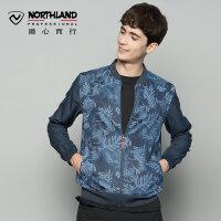 【品牌特惠】诺诗兰春夏男士户外透气轻量防晒小夹克皮肤衣运动风衣GL065211