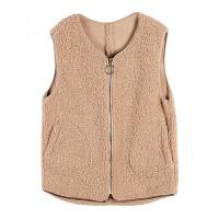 马甲女冬季学生韩版宽松拼接羊羔毛马夹背心外穿秋装短款坎肩外套