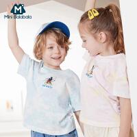 【618年中庆 119元任选2件】迷你巴拉巴拉男女宝宝T恤2020夏装新款迪士尼米奇联名款儿童上衣
