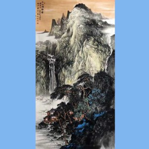 中国书画家协会会员,江西省美术家协会会员张绪洪(山水清新图)58