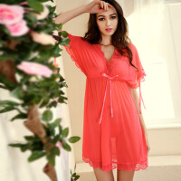 夏季性感睡衣诱惑透明网纱蕾丝大码睡裙女情趣内衣 均码