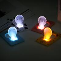 不插电创意小夜灯电池卡片灯小台灯 节能灯床头夜光批发