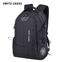 瑞士军刀双肩包男士大容量旅行包商务电脑背包男高中初中学生书包
