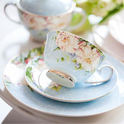 欧式简约骨瓷咖啡杯套装家用下午茶杯创意陶瓷咖啡套具