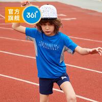 【下单立减价:39.6】361度童装 男童T恤2019夏季新品速干短袖上衣舒适透气短袖N51923205
