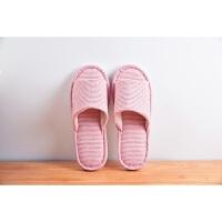 结婚拖鞋 春秋结婚家居家地板拖鞋女夏季棉麻情侣软底室内家用托鞋一家三口