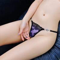 情趣内衣女士性感蕾丝内裤极度诱惑刺绣低腰t裤丁字裤 图片色