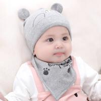 婴儿帽子秋冬0-3-6-12个月男女宝宝帽子初生保暖帽子胎帽冬