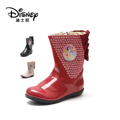【达芙妮集团】迪士尼 儿童雪地靴皮靴子女童靴冬中童短靴宝宝支持专柜验货 售完为止