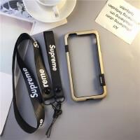 新款iphone手�C��x�框七�O果8新款7p硅�z八防摔6s�W美潮牌金�亠L 6/6s4.7寸��油�」� 土豪金 拼色系列