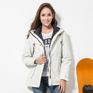 【羽绒内胆冲锋衣】杜戛地秋冬新款女式两件套可拆卸保暖防风时尚户外旅行冲锋衣外套