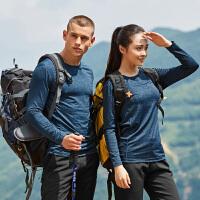 运动户外跑步健身登山男女款休闲速干吸湿排汗长袖T恤