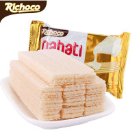 印尼进口 丽巧克纳宝帝香草牛奶味威化饼干 58g