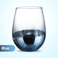 北欧ins风高硼硅玻璃水杯创意星空杯 时尚玻璃杯彩色家用网红杯子