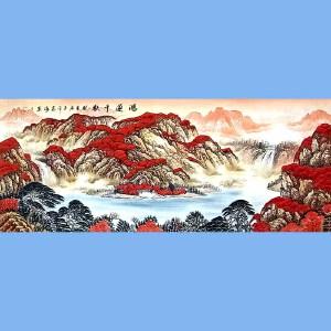 国家一级美术师,中国书画家协会会员,中国山水画研究院研究员范海(鸿运千秋)
