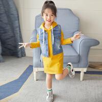 童装女童秋装套装2018新款中大童秋季韩版洋气卫衣两件套儿童潮衣