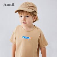 【活动价:89.55】安奈儿童装男小童T恤圆领2020夏季新款后背大图宝宝洋气上衣短袖