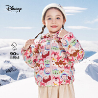 【2件3折:155.7元】迪士尼女童轻薄羽绒服2021秋季新款儿童羽绒女宝宝厚外套