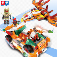 铠甲勇士猎铠拼装拼图插益智力小颗粒积木6-10岁儿童玩具男孩子