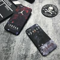 乔丹手机壳iphone6飞人篮球6s个性创意夜光磨砂硬壳全包苹果7plus iphone X 灰色