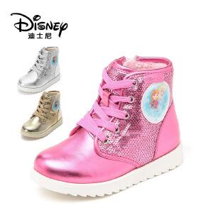 【达芙妮超品日 2件3折】达芙妮集团 迪士尼 冬长绒加厚休闲鞋冰雪奇缘女童鞋