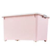 家用简约纯色塑料收纳箱透明被子衣服收纳盒玩具储物箱透明整理箱子车载搬家箱子