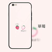 卡通可爱简约草莓仙人掌苹果6plus手机壳时尚玻璃镜面挂绳iphone6splus保护套i6/i6s i6/i6s 草