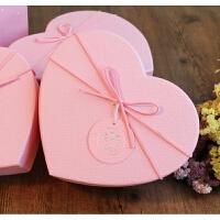 韩式情人节爱心礼盒桃心形节日生日礼品盒口红巧克力包装盒子