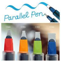 PILOT百乐平行笔/美工笔/特殊字体英文书法钢笔/内含简易字帖/鸭嘴笔1.5、2.4、3.8、6.0MM书法笔 百乐