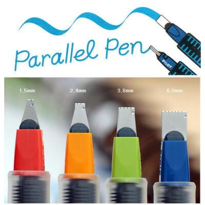 PILOT百乐平行笔/美工笔/特殊字体英文书法钢笔/内含简易字帖/鸭嘴笔1.5、2.4、3.8、6.0MM书法笔 百乐笔配套墨水笔囊 百乐平行笔 百乐钢笔笔囊
