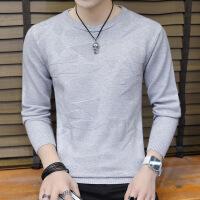 圆领毛衣男士针织衫韩版秋冬季男生线衣纯色男装低领打底衫上衣服