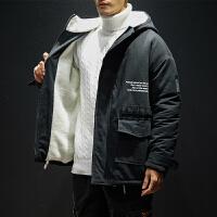 男士棉衣冬季新款连帽棉服潮流加绒加厚学生休闲冬天棉袄外套