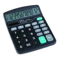 得力 838 计算器 大号 双电源 桌面太阳能计算器 182*142*45MM
