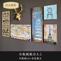 复古木版画壁挂西餐厅客厅沙发背景墙装饰画墙上装饰品挂画木板画SN7514