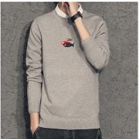 2018男士衬衫领毛衣韩版修身针织衫假两件青年打底衫带领线衫潮流