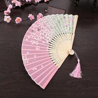 古风折扇扇子折扇古风女日式随身樱花扇旗袍表演道具古典折叠舞蹈扇子