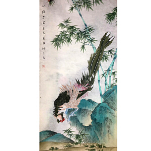 山东菏泽人,中国牡丹书画研究院院长吴绍正(竹报平安)41