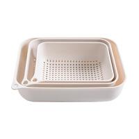 塑料沥水篮厨房洗菜盆三件套家用洗菜篮子创意水果盆洗菜篮
