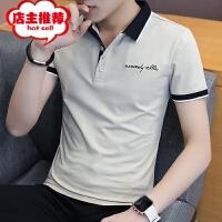 男士短袖t恤2019夏季新款翻领polo衫男韩版修身潮流青年半袖衣服