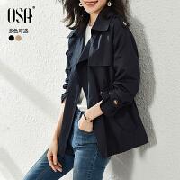 【2件3折到手�r:319】OSA高端大�怙L衣女短款春春季2021年新款收腰�赓|流行小��子外套