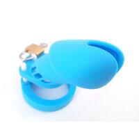 男用贞带蓝色硅胶CB6000阳具笼子狼牙套带刺狼牙棒避孕套鸡鸡套男用加粗加长另类情趣玩具