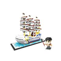 积木海盗船 钻石小颗粒微型积木海贼王海盗船桑尼号积木儿童拼装玩具 HC9034白鲸号 2466pcs