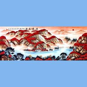 国家一级美术师,中国书画家协会会员,中国山水画研究院研究员范海(鸿运当头)2