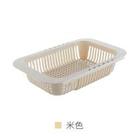 放碗篮子 厨房置物架可伸缩水槽沥水篮家用放碗碟蔬菜篮子水果塑料收纳架子