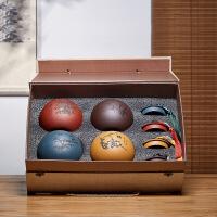 紫砂茶叶罐大号宜兴陶瓷密封罐家用小号醒茶包装盒手工存储罐