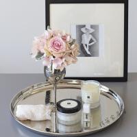 假花绢花玫瑰绣球组合套装桌面摆件家居软装饰品