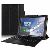 联想MIIX520保护套PC二合一平板12英寸电脑壳键盘皮套支撑套 黑色【头层 牛皮】