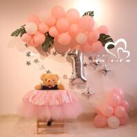 一周岁生日装饰气球 生日派对气球宝宝百天宴装饰一周岁布置用品卡通主题背景墙气球链