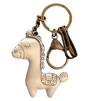 一鹿平安复古机器人可爱汽车钥匙扣男女士腰挂创意仿古钥匙链
