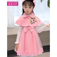 儿童连衣裙套装冬季女孩背心裙韩版时尚中小童三件套